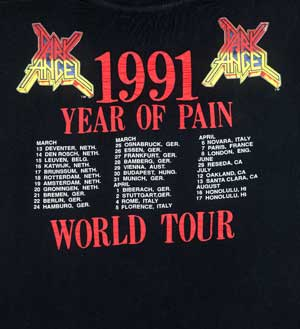 1991 Year of Pain Back